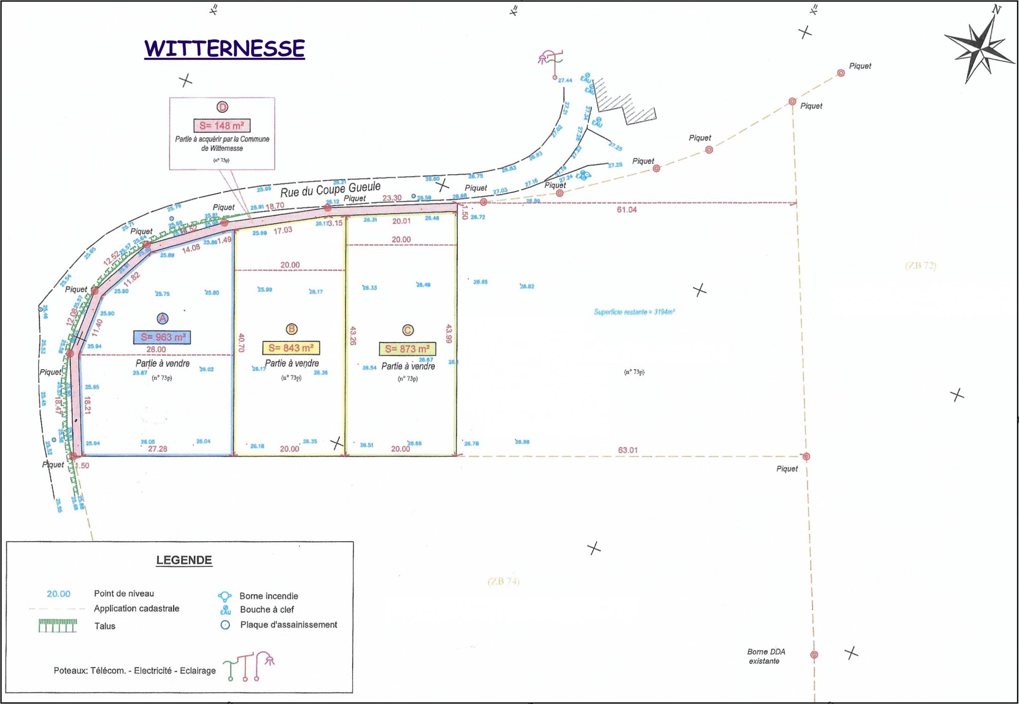plan des parcelles WITTERNESSE