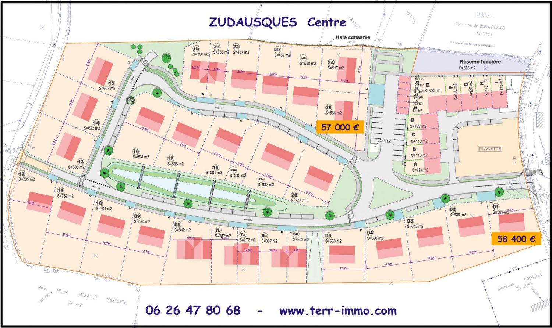 plan des parcelles ZUDAUSQUES , Centre 1
