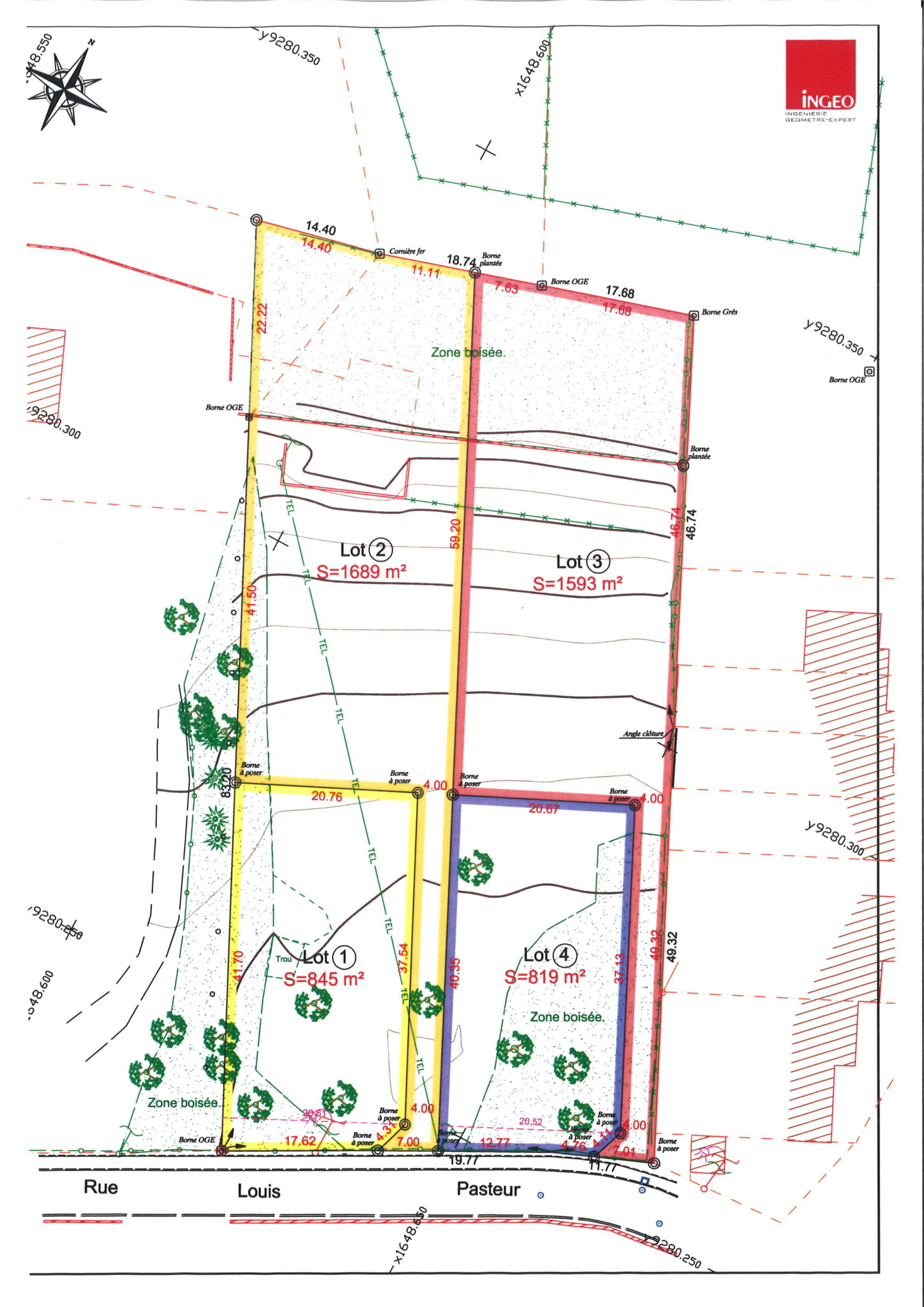 plan des parcelles BLENDECQUES